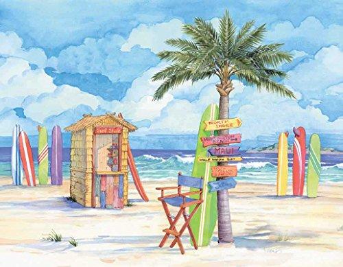 Beach Chair & Tree 240-10d-5 Artwork Micro Fiber Cleaning Cl