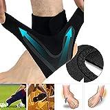 Usstore  1PC Sports Protect Ankle Socks Adjustable Anti-Sprain Ankle Support Elastic Brace Guard Football Basketball Sock (XL, B(Left))