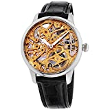 Maurice Lacroix Masterpiece Gold Dial Leather Strap Men's Watch...