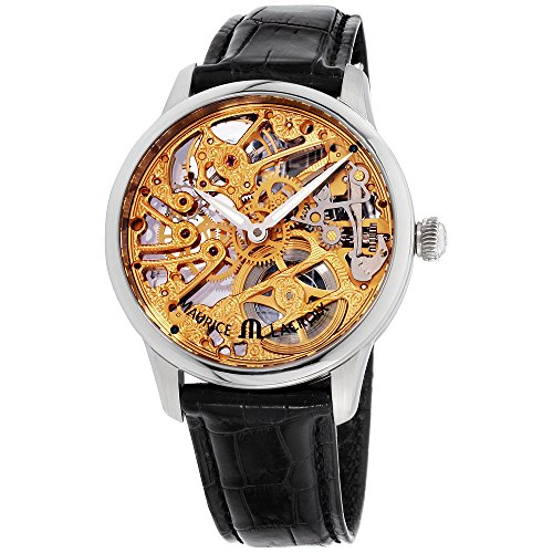 Maurice Lacroix Masterpiece Gold Dial Leather Strap Men's Watch MP7208SS001001XG (Certified Refurbished)
