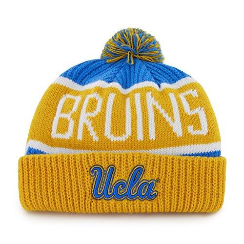 '47 UCLA Bruins Yellow Cuff Calgary Beanie Hat with Pom - NCAA Cuffed Winter Knit Toque Cap