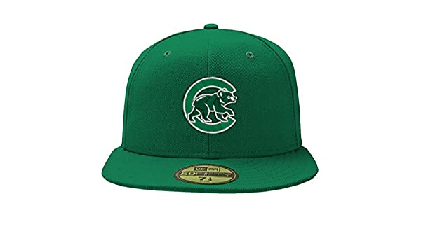 b327827c Amazon.com : Chicago Cubs 59Fifty St. Patrick's Day Green Hat by New ...