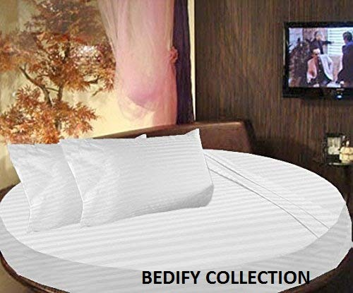 (Bedify Collection 100% Organic Cotton 800TC Hypoallergenic Design Wrinkle & Fade Resistant Queen Size 80