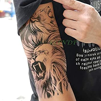 HXMAN 5 Unids Impermeable Tatuaje Temporal Pegatina León Rey Boca ...