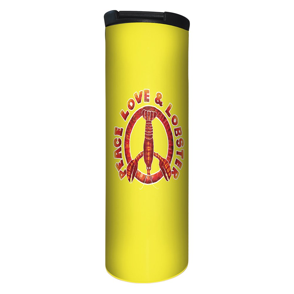 Tree-Free Greetings BT21274 Barista Tumbler Vacuum Insulated, Stainless Steel Travel Coffee Mug/Cup, 17 Ounce, Peace Love Lobster by Tree-Free Greetings (Image #1)