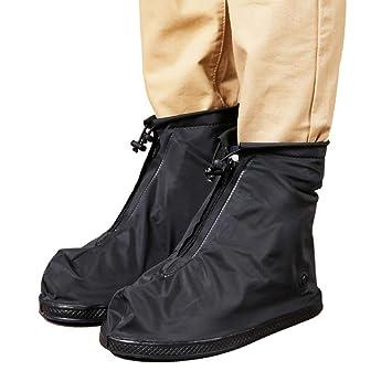 Mens Reusable Rain Shoe Covers Waterproof shoes Overshoes Boot Gear Anti-slip US