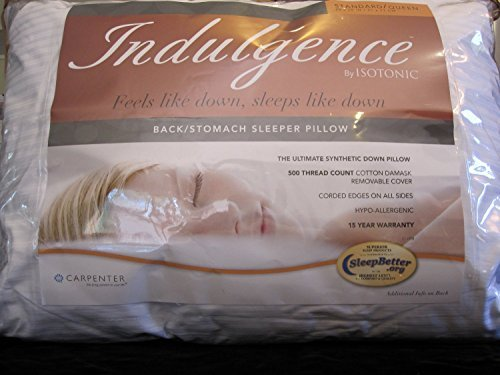 affordable Indulgence Back/Stomach Standard/Queen Sleeper Pillow by Isotonic 28