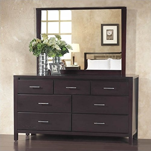 Spice Profile Low Nevis (Modus Nevis 7 Drawer Double Dresser and Mirror Set in Espresso)