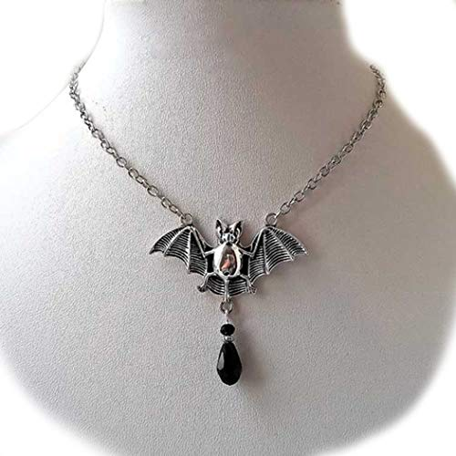Jovono Women's Necklace Jewelry For Women and Girl With Halloween Bat pendant]()