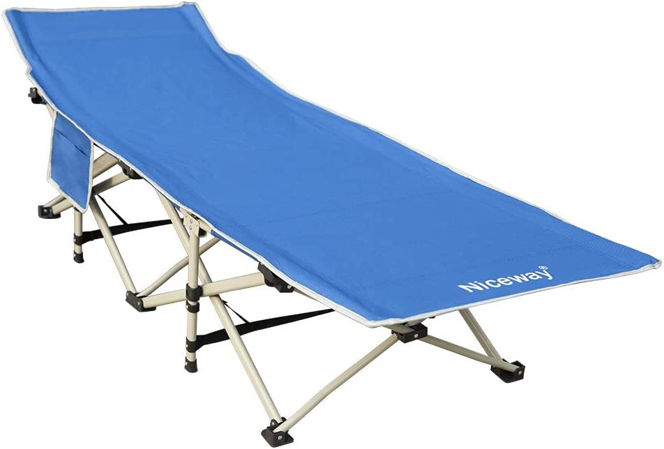 Niceway Oxford Portable Folding Bed Camping Cot with Storage Bag