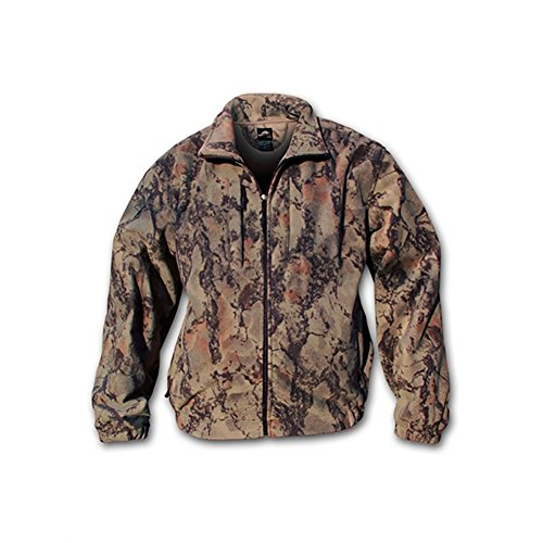 Natural Gear Windproof Full-Zip Fleece Jacket for Men and Women, Natural Camouflage Pattern, Women's and Men's Hunting Jacket (XXX-Large)