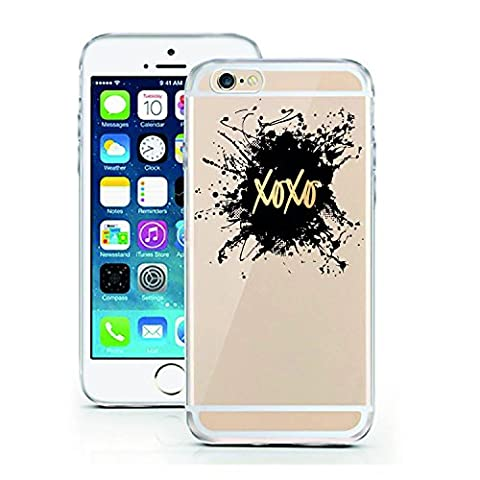 iPhone 5 5S SE Case by licaso for the iPhone 5 5S SE TPU Disney Case XOXO Sparkle Black Gold Clear Protective Cover iphone5 Mobile Phone Sleeve Bumper (iPhone 5 5S SE, (Gold Disney Iphone 5s Case)