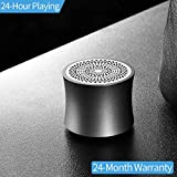 Ainope Bluetooth Speaker,Portable [Stylish Metal] Wireless Speaker, Mini But Powerful With Enhanced Bass,Music On-The-Go (Dark Gray)
