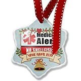 Add Your Own Custom Name, Medical Alert Red No Shellfish Christmas Ornament NEONBLOND