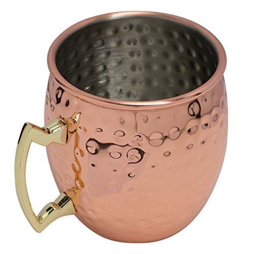 Moscow Mule Hammered Copper Drinking Cup - Set of 5 by BonBon (Image #4)