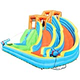 Sportspower Twin Peaks Splash and Slide with Water Cannons and Climbing Wall
