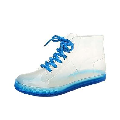 Frauen Regenstiefel, Anti-Rutsch-Kurze Stiefel, Mode Wasserschuhe, Lässige Regenstiefel, Rutschfeste Gummischuhe (Farbe : Pink, Größe : 40)