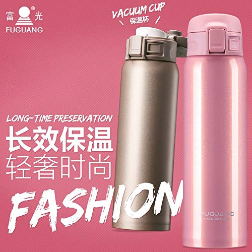 Portable ultra-light preventing leakage stainless steel vacuum keep-warm water kettle
