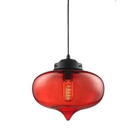 Frideko Modern Village Multicolour Glass Lampshade Hanging Loft Ceiling  Pendant Light For Bedroom Restaurant Living