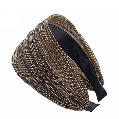 Hair Bands | 8 Cm Wide Shinny Headbands Mesh Tinsel Fabric Elegant Ladies Hairbands Womens' Hair Accessories | By BATULY