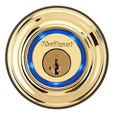 Kwikset Kevo Touch-to-Open Bluetooth Smart Lock in Satin Nickel