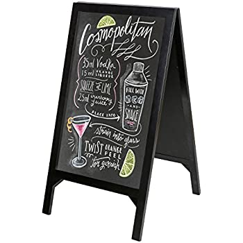 Best Amazon.com: Modern A-Frame Double Sided Wood Chalkboard Stand  PU12