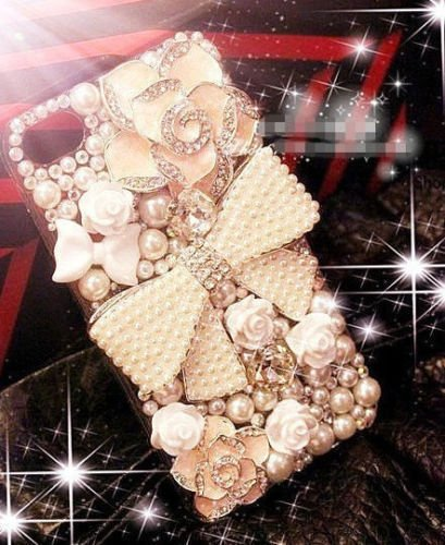 Handmade Luxury Bling Diamond Rhinestone Crystal Jewelled Gems Hard Case Cover for Mobile Phones(ZTE Obsidian Z820 Phone)