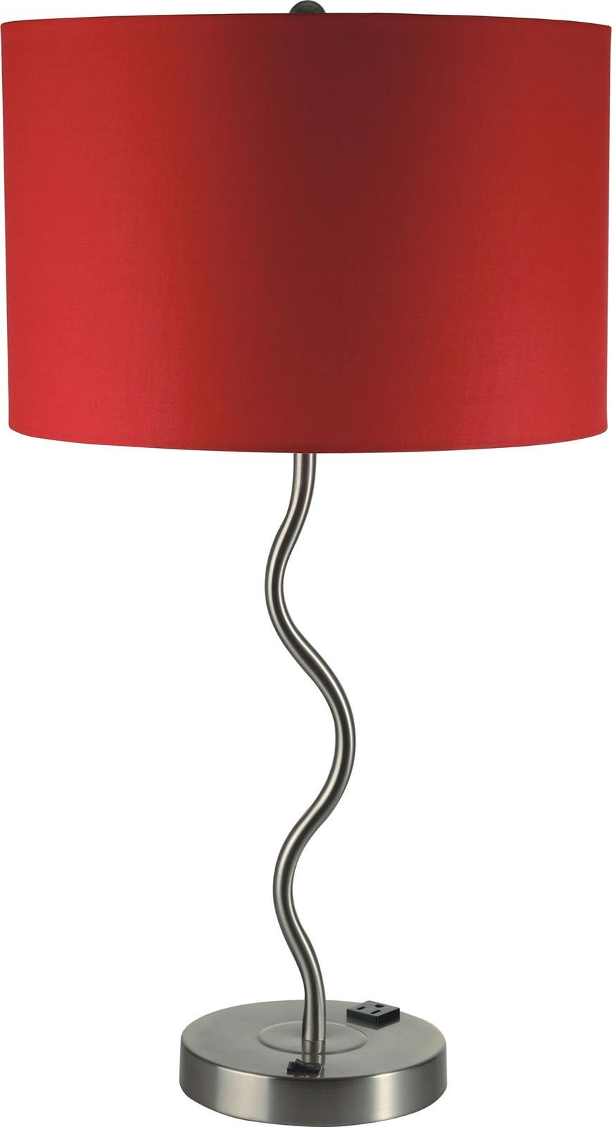 Furniture of America L76224T-RD-2PK Sprig Red Table Lamp Set of 2 Miscellaneous-Others