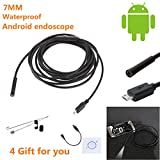 Chunlin 1M/ 1.5M/ 2M/ 3.5M/ 5M 6 LEDs 5.5mm/7mm USB Android Endoscope Waterproof Borescope Inspection Camera Pipe Locator (1M 7mm)