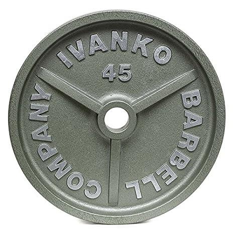 Ivanko mecanizado Hammertone Olímpico gris platos 100 lb par: Amazon.es: Deportes y aire libre