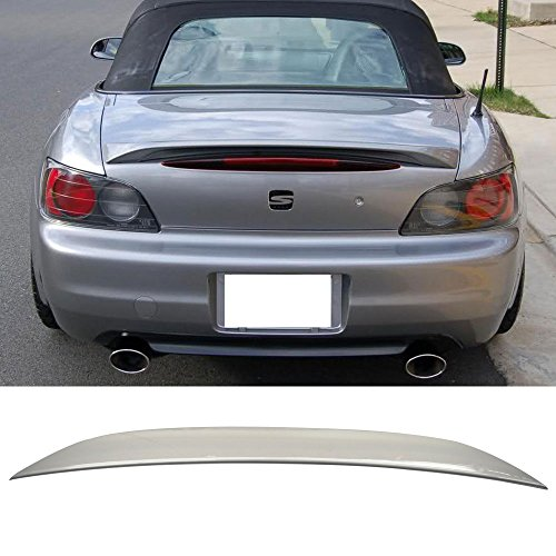 Pre-painted Trunk Spoiler Fits 2000-2009 Honda S2000 | OE Style ABS Painted # NH630M Silver Stone Rear Tail Lip Other Color Available By IKON MOTORSPORTS | 2001 2002 2003 2004 2005 2006 2007 2008