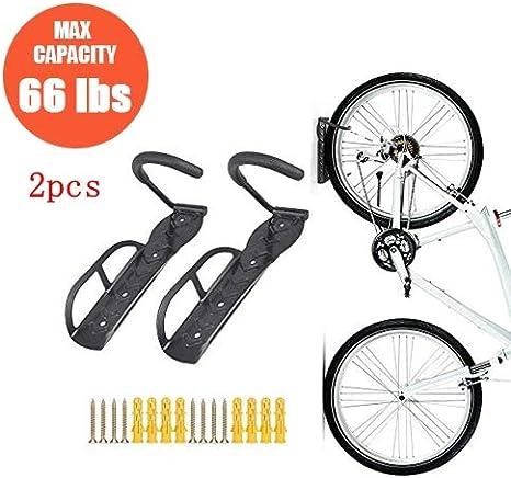 Soporte de pared para bicicletas, colgador con tornillos, 2 piezas ...