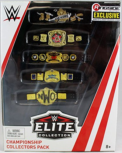 (WWE Championship Collectors Five Belt Pack Elite Ringside Exclusive Mattel Toy Wrestling Action Figure Accessories Pack)