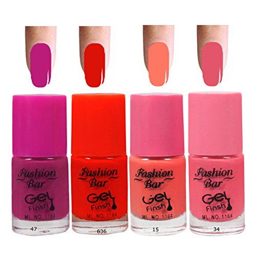 Fashion Bar 47 6369 15 34 Nail Polish Combo,Multi Color,20ml,Pack of 4
