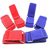 XF-Vel Two Three-Legged Race Bands Elastic Straps Elastic Tie Rope Straps for Relay Games Birthday Carnival Party Games for Kids or Grown-up or Adult Outdoor Development 2 Assorted Colors 3 of Each