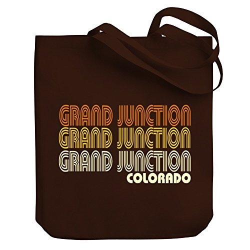 Teeburon Grand Junction retro color Canvas Tote - Grand Shopping Junction