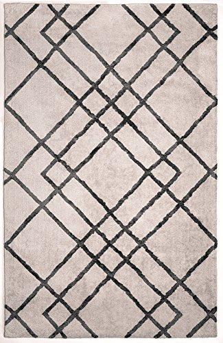 Anji Mountain Ivory Bamboo - Anji Mountain AMB0612-0057 Diamond Dogs Area Rug 5'x7', Ivory/Gray