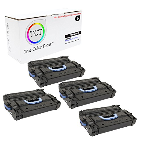 TCT Premium Compatible C8543X High Yield Black Toner Cartridge 4 Pack for the HP 43X series - 30K yield- works with the HP LaserJet 9000 series, 9040, 9050MFP series printer models.