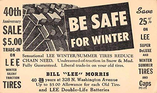 Lee Morris Winter Tires Advertising Auto Car Antique Postcard JD228036