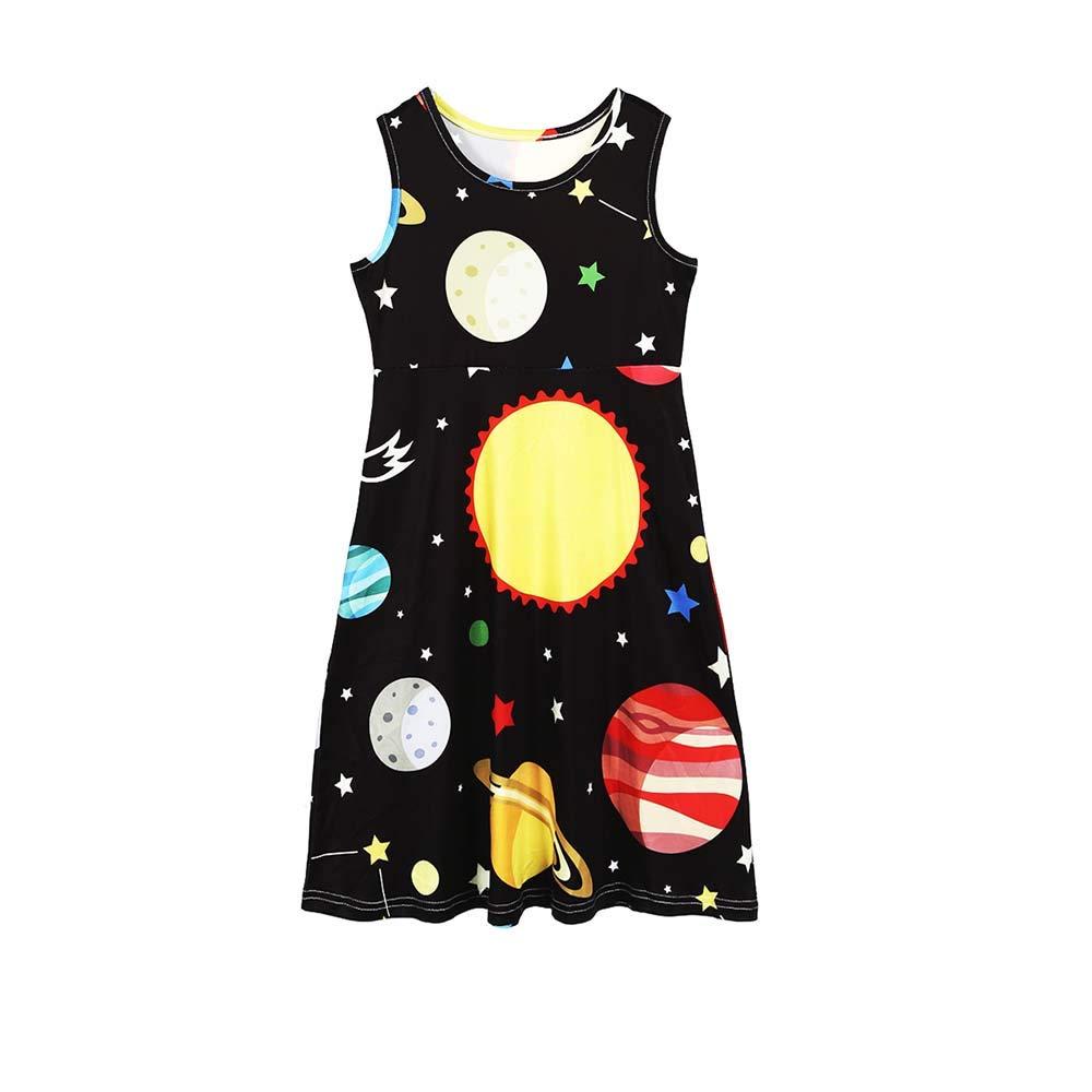 7e000ab62f Amazon.com: Mommy and Me Sun Stars Print Sleeveless Dresses Family Matching  Casual Bohemian Maxi Girls Party Midi Dress: Clothing