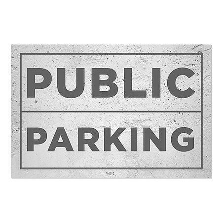 CGSignLab 16x16 No Parking Stripes Gray Window Cling 5-Pack