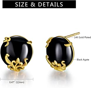 Agate Earring /& 14k Gold Plated