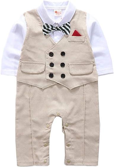 Conjuntos Bebé NiñO, JiaMeng Gentleman Bowtie a Cuadros Swallowtail Romper Mono Trajes Bebé Conjuntos Moda Camisa + Pantalones: Amazon.es: Ropa y accesorios