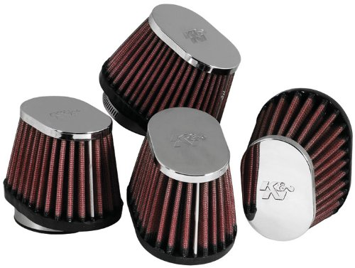 K&N RC-1824 Motorcycle Universal Chrome Air Filter