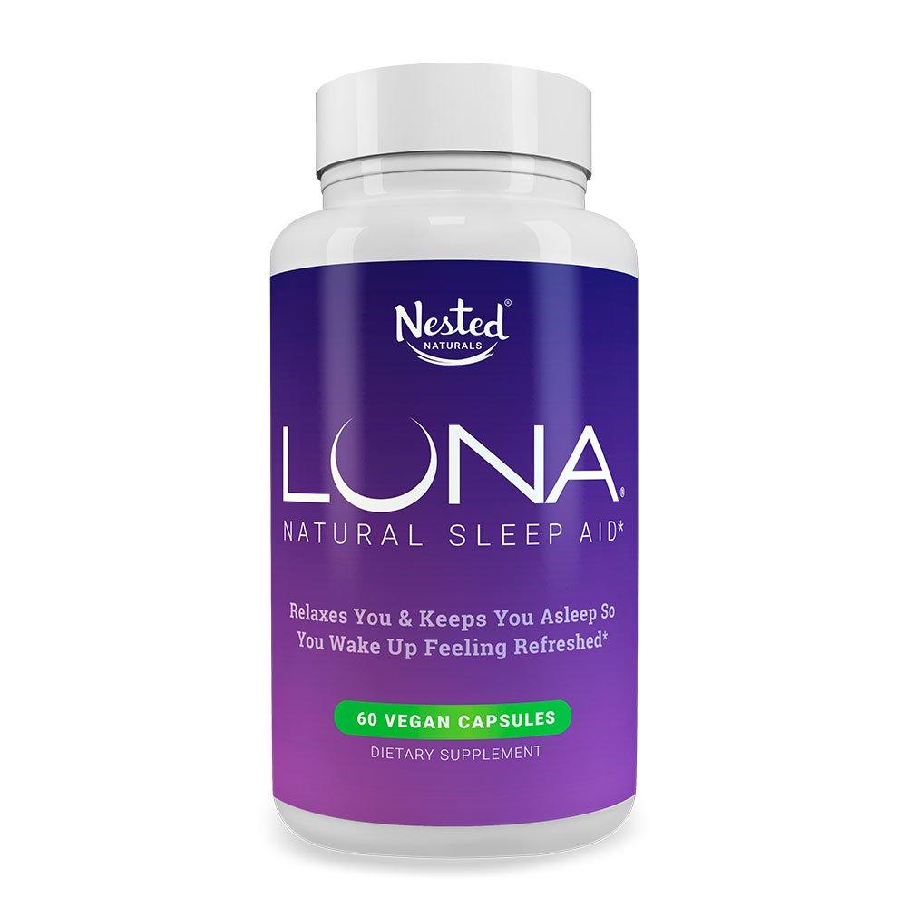 Luna 1 Sleep Aid On Amazon Naturally Sourced Speaker Vertigo Vt 65 B Ingredients 60 Non Habit Forming Vegan Capsules Herbal Supplement With Melatonin