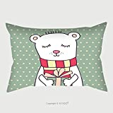 Custom Satin Pillowcase Protector Concept Birthday Card With Cute Funny Bear Pillow Case Covers Decorative