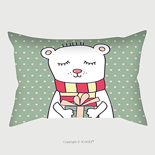 Custom Satin Pillowcase Protector Concept Birthday Card With Cute Funny Bear Pillow Case Covers Decorative by chaoran