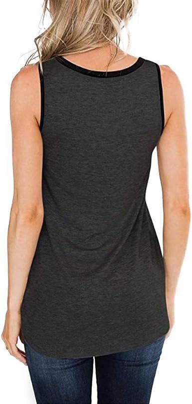 7 Womens Leopard Patchwork Tank Tops Sleeveless Casual Color Block Tee Shirt EAZsyn8