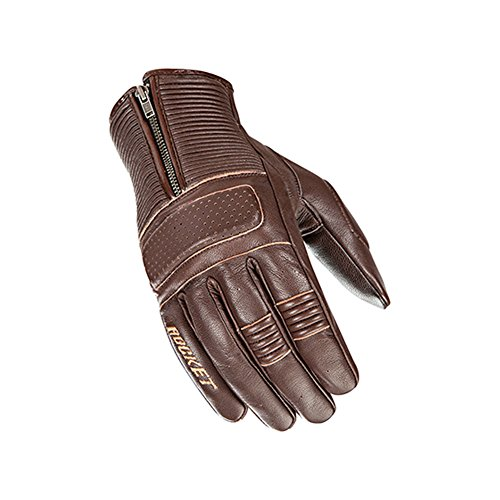 - Joe Rocket Cafe Racer Mens Street Motorcycle Leather Gloves - Brown/Medium