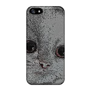 Snap-on Art Cat Case Cover Skin Compatible With Iphone 5/5s